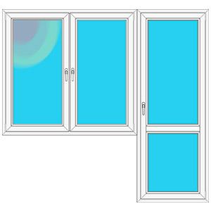 Серия домов ii 18 - балконный блок c энергосберегающим стекл.